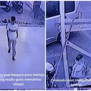 Nyaru Jamaah Masjid dan Sempat Wudu, Pria Ini Terekam CCTV Curi Helm