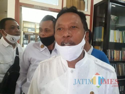 Ketua KONI Kabupaten Malang, Rosyidin saat ditemui awak media beberapa waktu lalu. (Foto: Dok. JatimTimes)