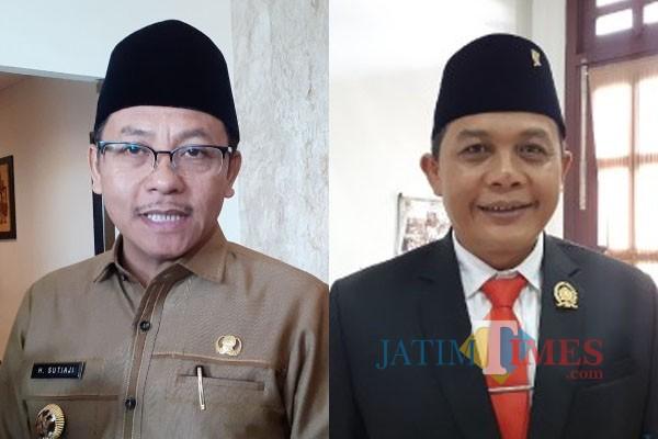 Wali Kota Malang Sutiaji dan Ketua DPRD Kota Malang I Made Riandiana Kartika (MalangTIMES).