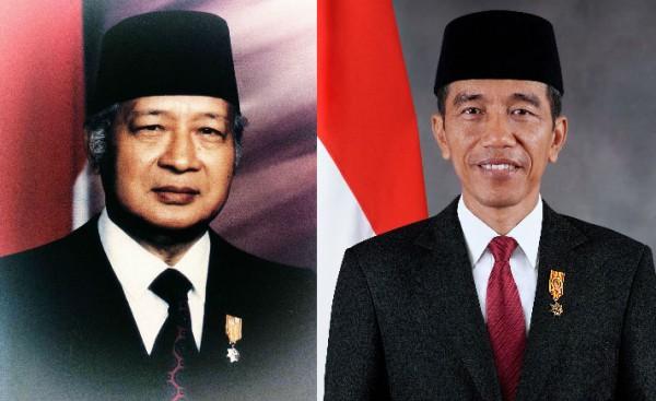 Soeharto dan Jokowi (Foto: Tagar)