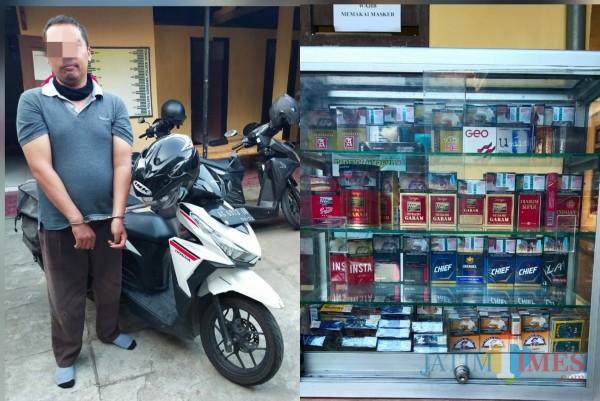 Pria Gagah Asal Kediri Curi Rokok Beserta Etalasenya, Tertangkap di Tulungagung