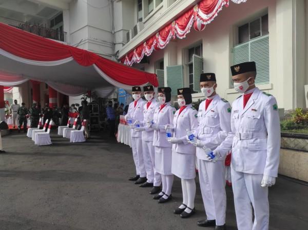 Pasukan Paskibraka di Kota Malang yang tampil prima dalam Upacara HUT Kemerdekaan RI (Istimewa)