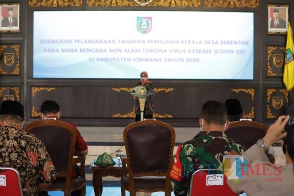 Bupati Jombang Mulai Sosialisasikan Pelaksanaan Pilkades Serentak