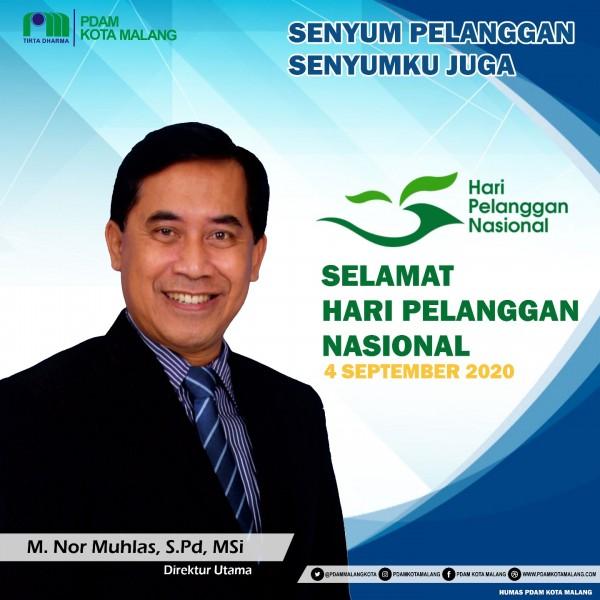 Direktur Utama Perumda Tugu Tirta Kota Malang, M Noor Muhlas. (Foto: Perumda Tugu Tirta Kota Malang).