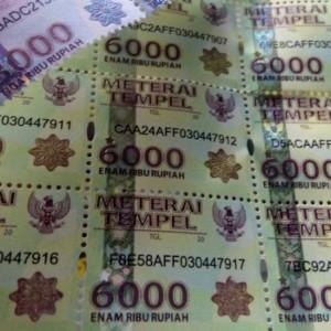 Bea Meterai Naik Jadi Rp 10.000, Mulai Ditetapkan Januari 2021