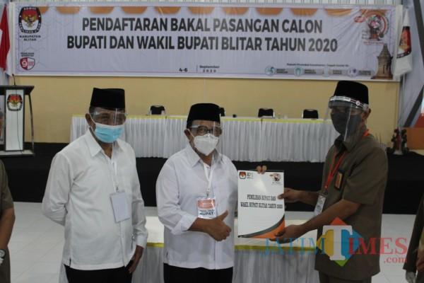 Pilkada Blitar, Rijanto-Marhaenis Bapaslon Pertama yang Daftar ke KPU