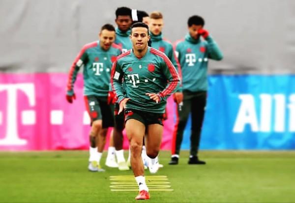 Thiago Alcantara saat berlatih bersama Bayern Munchen. (Instagram Thiago)