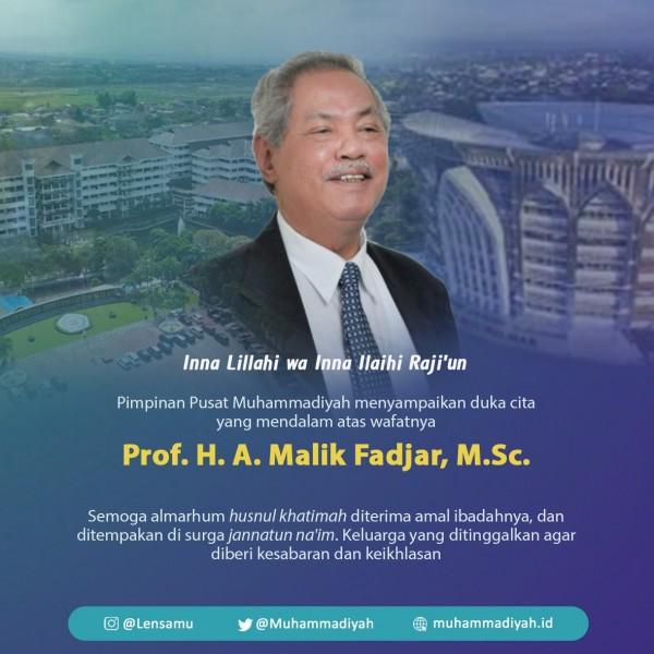 Tokoh sesepuh Muhammadiyah Prof. Dr. (H.C.) Drs. H. Abdul Malik Fadjar, M.Sc meninggal dunia. (Foto: Muhammadiyah)