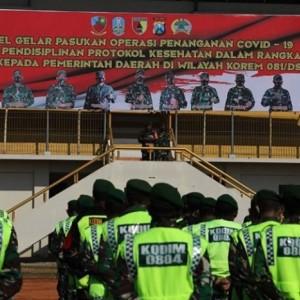 2.488 Personil TNI Diterjunkan Dalam Penegakan Protokol Covid-19 di Wilayah Korem 081/DSJ