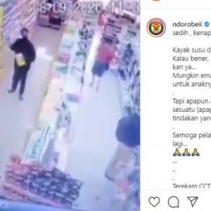 Viral Aksi Bapak-Bapak Curi Susu Anak Terekam CCTV, Justru Tuai Simpati Warganet