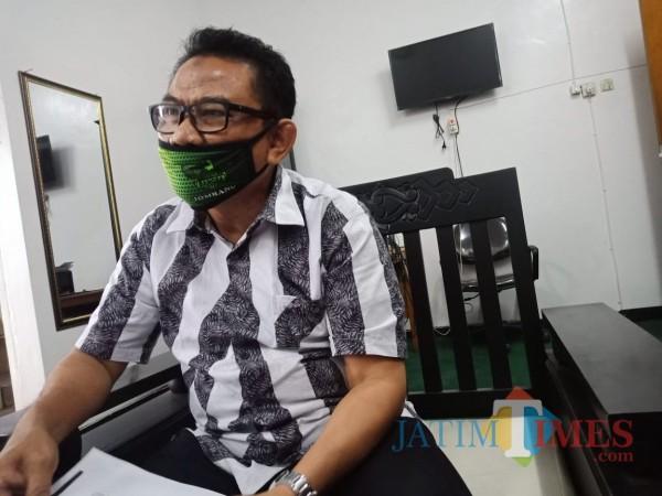 Ketua DPRD Jombang Mas'ud Zuremi saat ditemui di ruangannya. (Foto : Adi Rosul / JombangTIMES)