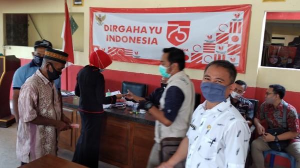Melalui Dinsos Pemkab Kediri kembali menyalurkan bantuan Jaslut tahap tiga kepada 3.484 Keluarga Penerima Manfaat (KPM). (Foto: Istimewa)