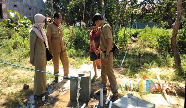 Salah satu Lokasi pengeboran di Dusun Tengah, Desa Mapper, Kecamatan Proppo, Pamekasan.