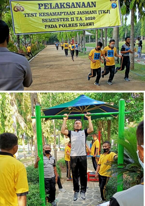 Polres Ngawi menggelar Tes Kesamaptaan Jasmani (TKJ)  Semester II Tahun 2020