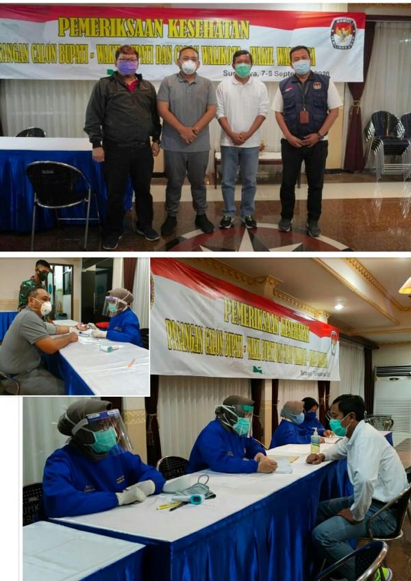 Tim dokter RSAL Surabaya menangani pemeriksaan paslon Ony -Antok