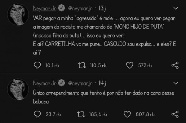 Cuitan Neymar di Twitter (Twitter Neymar)