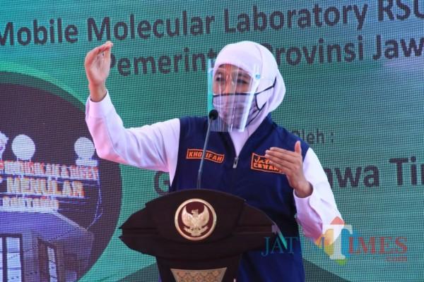 Angka Kesembuhan Covid-19 Jatim 80 Persen, Gubernur Khofifah Wanti Jangan Lengah