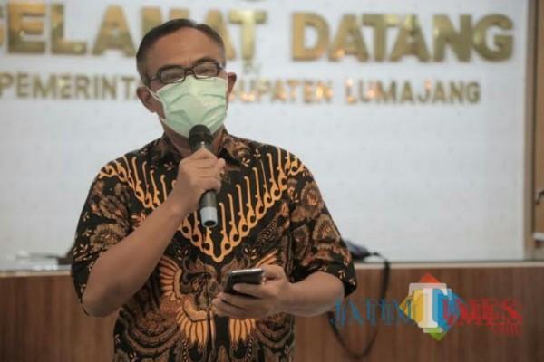 Kepala Dinas Kesehatan Kabupaten Lumajang dr. Bayu Wibowo Ignasius (Foto : Moch. R. Abdul Fatah / Jatim TIMES)