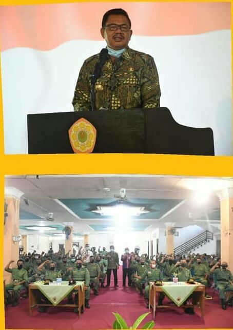 Pembekalan Pengamanan TPS, PPS, PPK, Satlinmas dan Panitia Llogistik Pilkada Kabupaten Mojokerto 2020 (Foto: IG protokol_kabmojokerto)