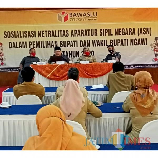 Sosialisasi diikuti Kepala Organisasi Perangkat Daerah dan Camat Se-Kabupaten Ngawi.