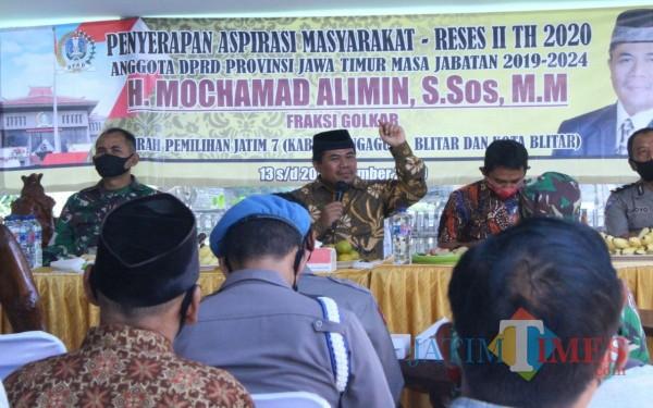 M. Alimin saat Reses di Boyolangu / Foto : Anang Basso / Tulungagung TIMES