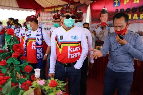 Menkumham Yasonna Hamonangan Laoly (depan, dua dari kanan) saat meresmikan SAE L'SIMA (Foto: Istimewa)