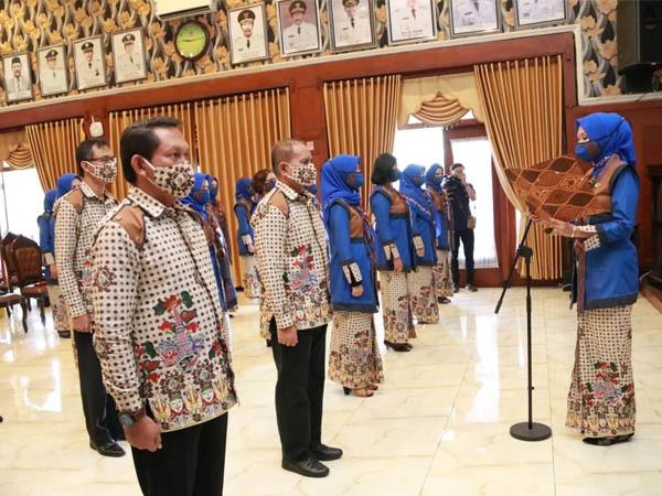 Pengukuhan kepengurusan Dekranasda Kota Malang periode 2018-2023 di Balai Kota Malang, Rabu (16/9). (Foto: Humas Pemkot Malang).