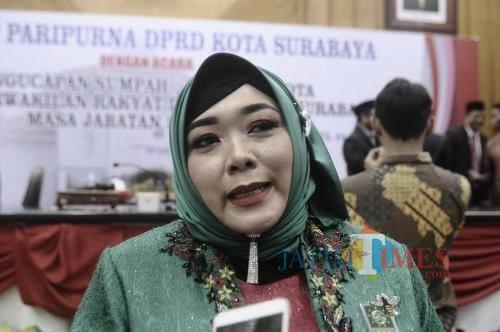 Wakil Ketua DPRD Surabaya Laila mufidah