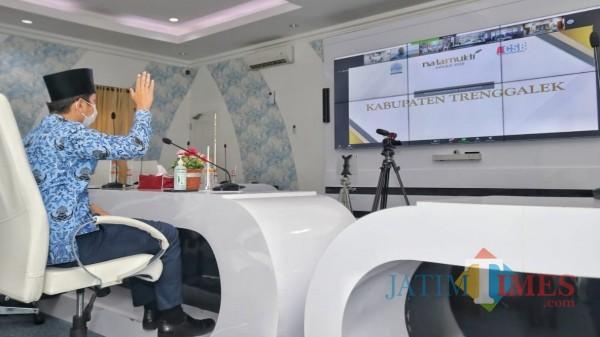 Bupati Trenggalek ikuti pengumuman virtual pemenang dari Smart Center