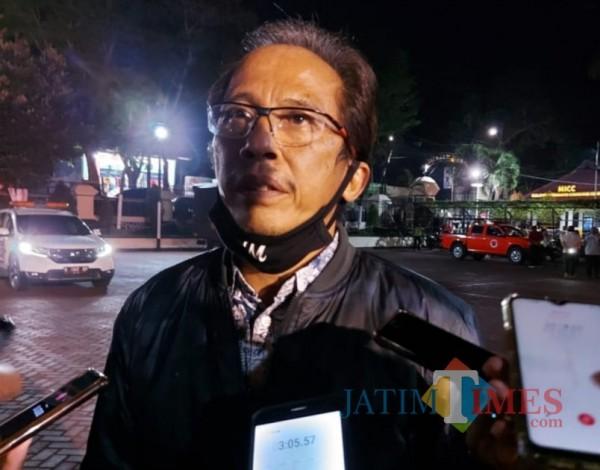 Kepala Dinas Kesehatan Kabupaten Malang, Arbani Mukti Wibowo saat ditemui awak media di Mapolres Malang, Rabu (16/9/2020) (Foto: Tubagus Achmad/ MalangTIMES)