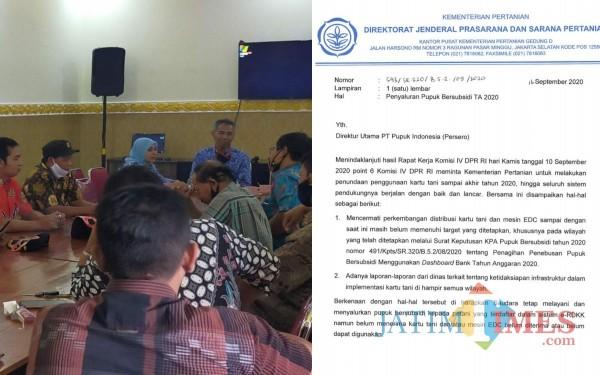 Sejumlah Kades dii Boyolangu rapat dengan BPP dan edaran Kementerian Pertanian (Foto: Istimewa/ TulungagungTIMES)