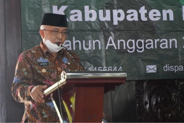 Bupati Malang HM Sanusi saat menjelaskan program insentif untuk ketua RT dan RW (Foto: Istimewa)