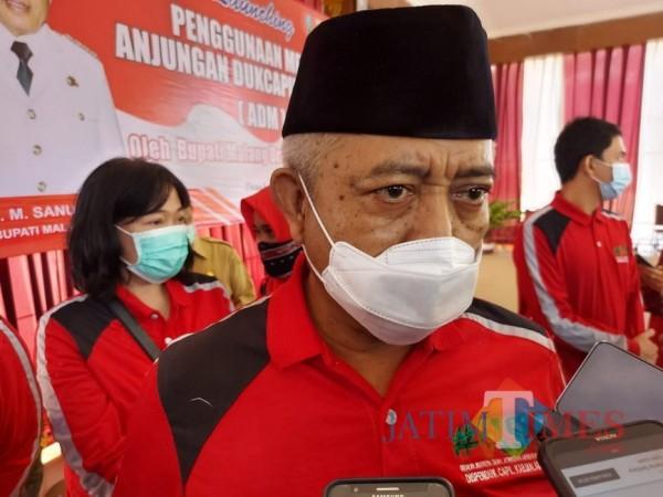 Bupati Malang HM. Sanusi saat ditemui awak media di Kecamatan Ngantang, Senin (21/9/2020). (Foto: Tubagus Achmad/MalangTimes)