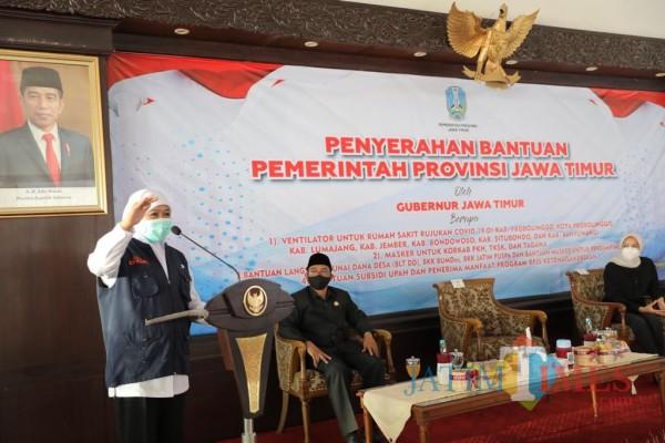 Tujuh Daerah Tapal Kuda Terima Bantuan Ventilator dari Pemprov Jatim