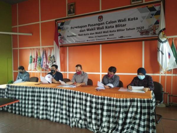 KPU Tetapkan Dua Paslon Bertarung di Pilkada Kota Blitar