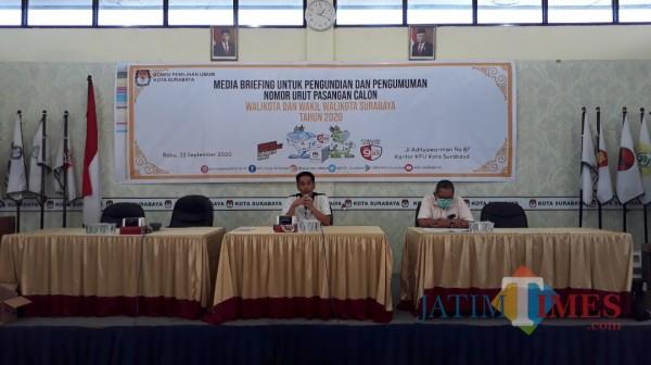 Sah Diikuti Dua Calon, Nomor Urut Paslon Pilwali Surabaya Ditentukan Kamis Ini