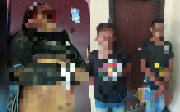 YT yang tewas dimassa, dua anak YT yakni KS dan BP yang diamankan polisi / Foto : Istimewa / Tulungagung TIMES