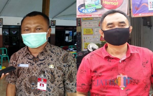 Kadinsos Suyanto dan Anggota Komisi C, Heru Santoso / Foto : Anang Basso / Tulungagung TIMES