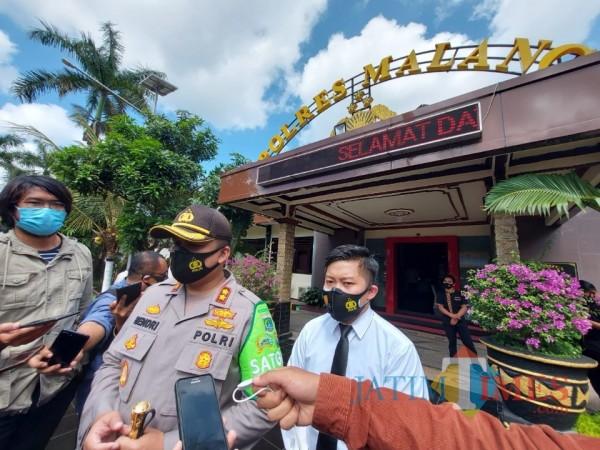 Kapolres Malang AKBP Hendri Umar saat ditemui awak media di Mapolres Malang, Kamis (24/9/2020). (Foto: Tubagus Achmad/MalangTimes)