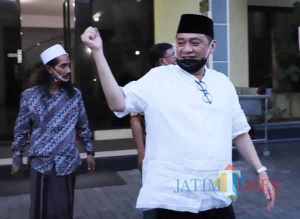 Haji Masnuh, ketua tim pemenangan Kelana Aprilianto-Dwi Astutik.