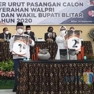 Resmi Disahkan, Ini Nomor Urut Paslon Pilkada Kabupaten Blitar