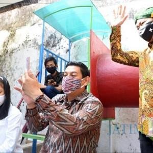 Belajar Online Saat Pandem, Wali Kota Kediri Apresiasi Wifi Gratis di Kelurahan Pakelan