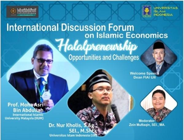 Foto Pamflet Halalpreneurs Ekonomi Islam FIAI UII