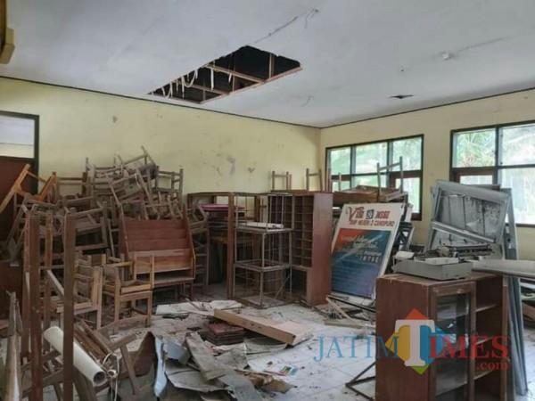 Ini salah satu kondisi sekolah yang diunggah Saiful Anam, anggota DPRD Lumajang dari PDIP
