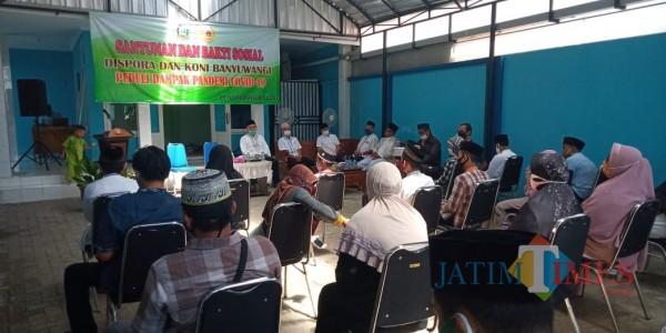 Prihatin Pandemi, KONI Banyuwangi Gelar Khotmil Quran dan Santunan Yatim Piatu