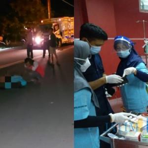 Lepas Kendali, Sepeda Motor Alami Kecelakaan Tunggal di Bok Brombong Tulungagung