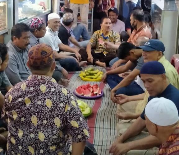 Suasana doa bersama para pedagang Pasar Besar Kota Malang (istimewa)
