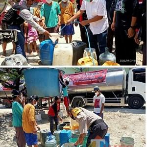 Atasi Krisis Air Bersih, Baguna PDI-P Bantu Salurkan Air Bersih ke Warga