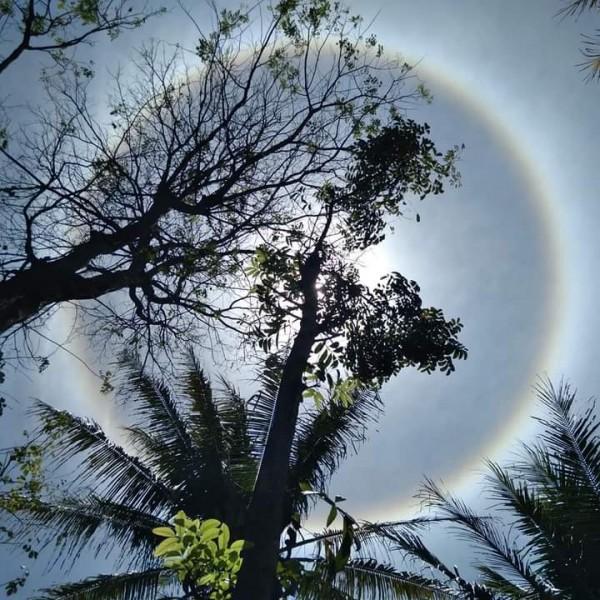 Fenomena Halo Matahari yang sempat terlihat di wilayah Malang (Ist)