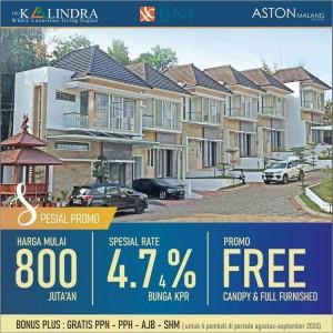 Tinggal 3 Unit, Dapatkan Town House Kalingga Rp 800 Juta-an Bonus Full Furnished Ekslusif